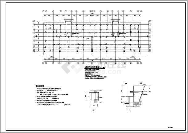 某异形柱框架住宅建筑设计cad施工图