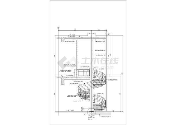钢结构圆形楼梯详细cad设计施工图纸-图1