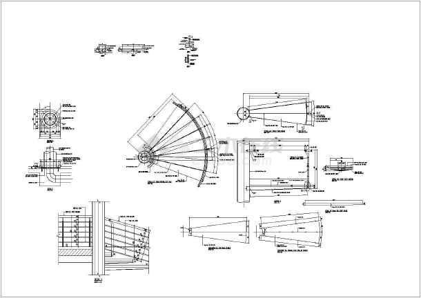 钢结构圆形楼梯详细cad设计施工图纸-图3