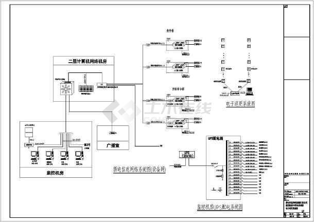 某学校弱电及智能化工程建筑电气设计图纸-图3