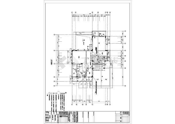 某A1图纸类型建筑CADv图纸别墅cad快捷键按比例图纸放大图片