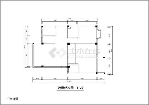两居家装设计裕锦园家居cad方案平面布置施工图-图2