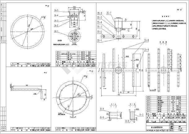 某地IC厌氧塔详细CAD设计加工图-图1
