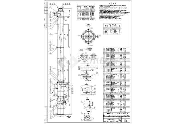 某地IC厌氧塔详细CAD设计加工图-图3