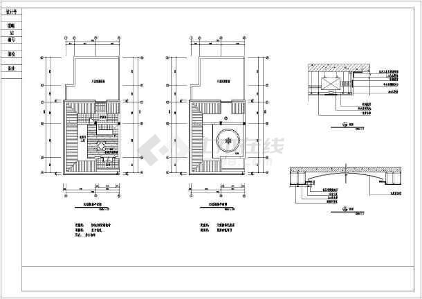 带天台别墅室内设计装修cad平立剖面施工图样