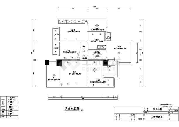 某花园住宅户型室内装修CAD施工图纸-图2