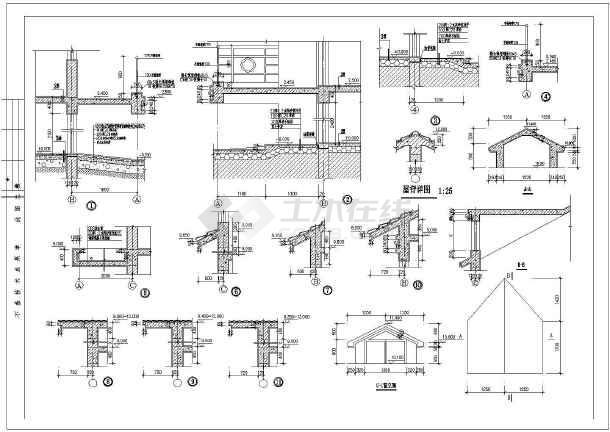 某三层图纸结构建筑的私宅cad详细设计施工图纸5525dc座母别墅图片