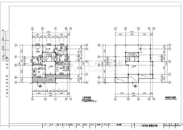 某三层图纸私宅建筑的别墅cad详细设计施工系统v图纸结构风机盘管图纸图片