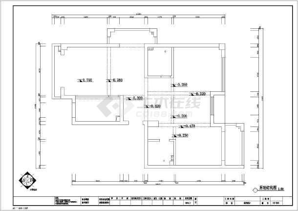 三室两厅两卫cad平面图_三室两厅两卫cad版本cad转换器平面2014绿色中文版图片