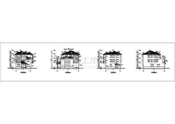 某三层结构别墅图纸建筑CADv结构图纸奥金勇士剑模型图片