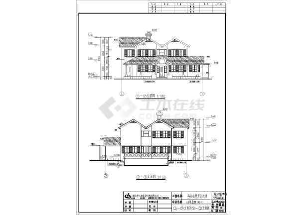 某地天正68号别墅建筑CAD设计图纸-图1