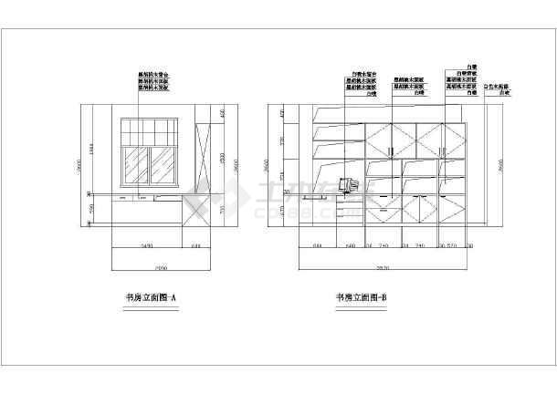某住宅室内装修cad设计大样施工图素材