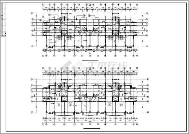 广东省某住宅小高层全套CAD图纸城市图书馆cad图图片