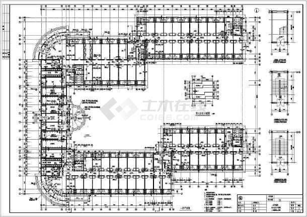 某地区大型宿舍楼建筑图纸(标注详细)