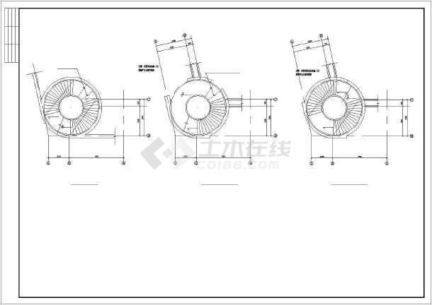 福建省某城乡旋转楼梯CAD节点详图-图1