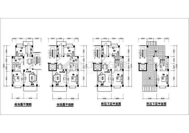 某住宅小区多层住宅楼多种户型建筑图纸