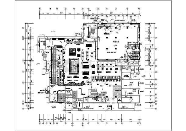 某大型超市平面设计图(标注详细)图片