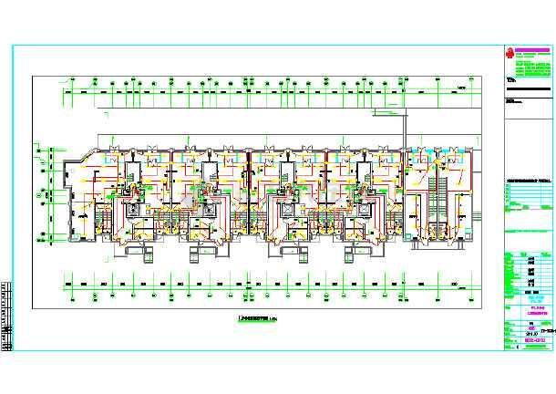 某地区大型商铺建筑结构图(标注详细)