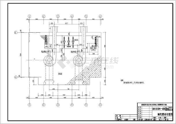 xx地一级水电站全套cad设计施工图纸-图3