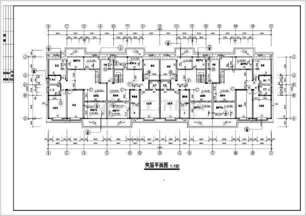 多层住宅建筑平面立面剖面图的图纸