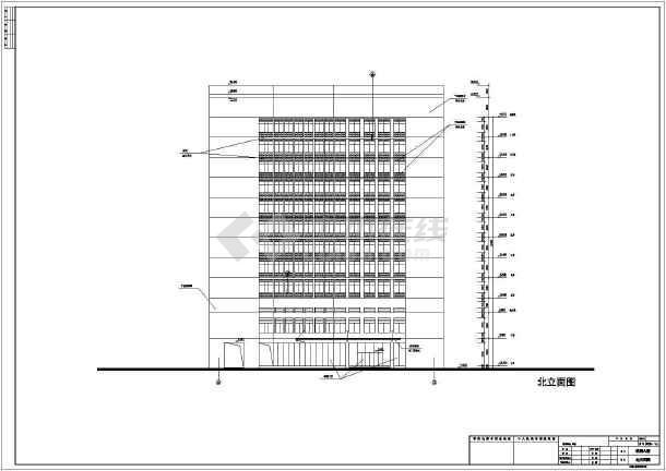[东阳]某十二层病房建筑设计施工图v二层友道图片