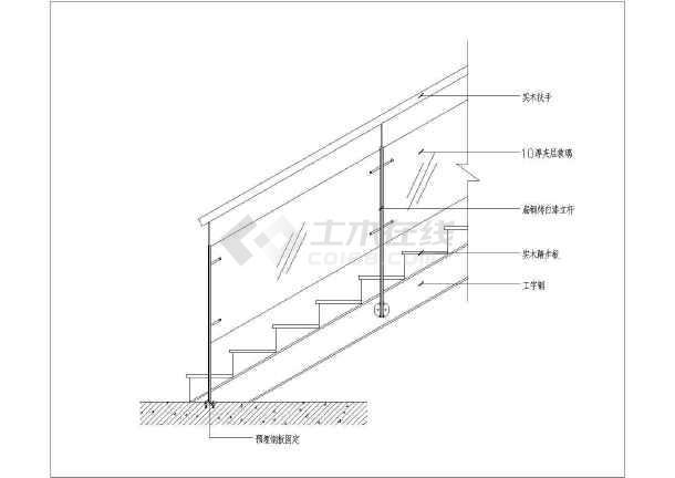 钢结构楼梯cad施工图-图2