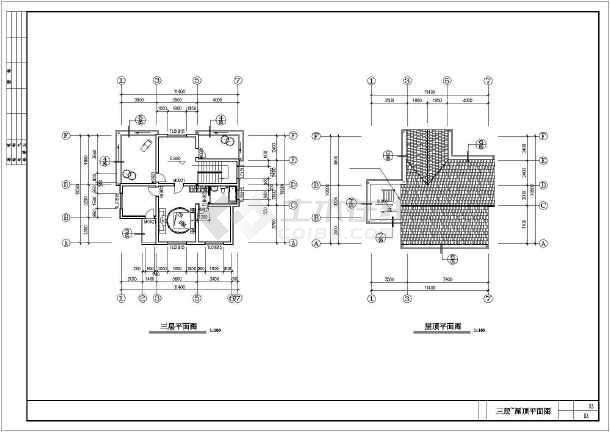 简单实用的新型图纸住宅设计CAD农村图纸哪上回在土填图片