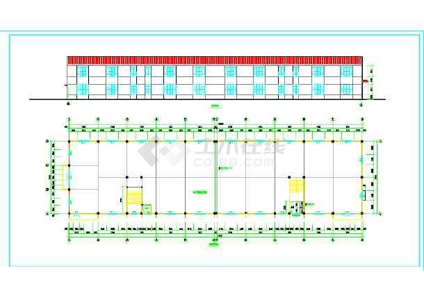 某厂房沙龙365建筑cad设计施工图纸-图2