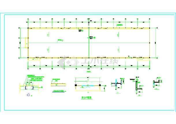 某厂房沙龙365建筑cad设计施工图纸-图3