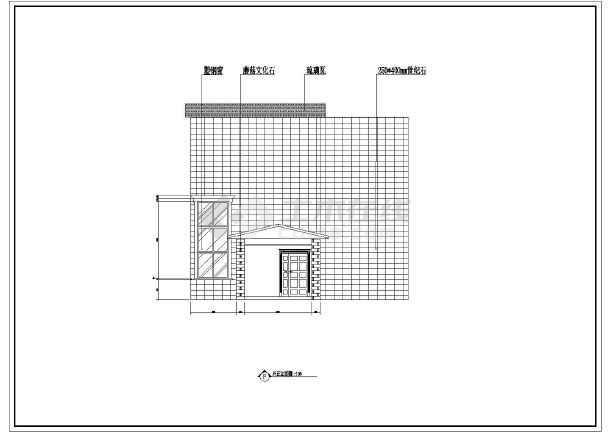 二层别墅室内外装修设计cad施工图剖面图