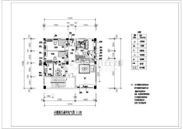 小二居家装设计cad方案施工图纸-图1