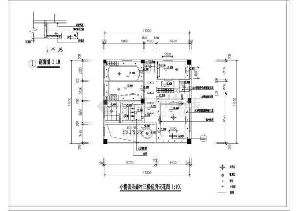 小二居家装设计cad方案施工图纸-图2