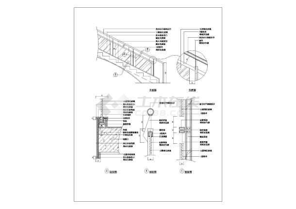 某楼梯造型建筑大样施工cad图纸-图3