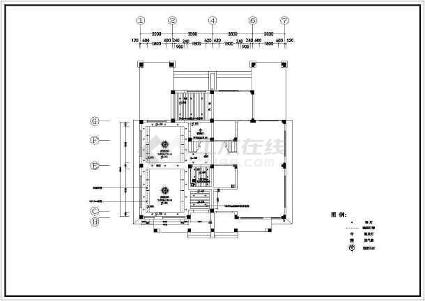 小两室住宅户型室内装修CAD平面施工图纸-图1