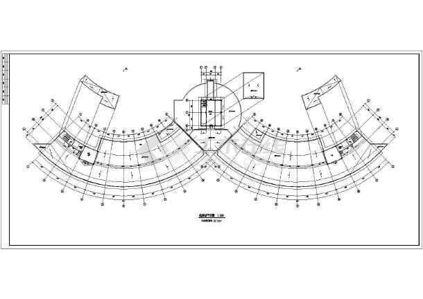 某三甲医院初步设计一期大奖楼建筑cad图病房手表六合无绝对片
