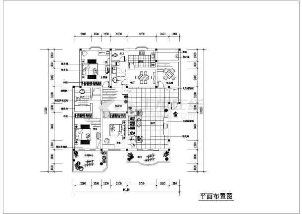 某详细家装设计cad平立面施工图完整的大样图纸-图1