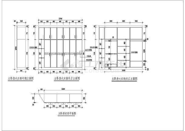 某详细家装设计cad平立面施工图完整的大样图纸-图3