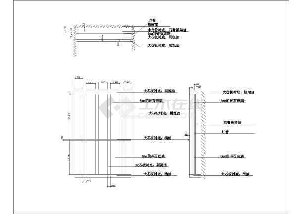 大两居家居装饰室内装修布置cad施工图-图2