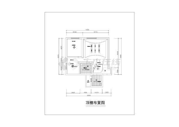 小两居五块石10幢2楼2号室内家装设计cad施工图-图1