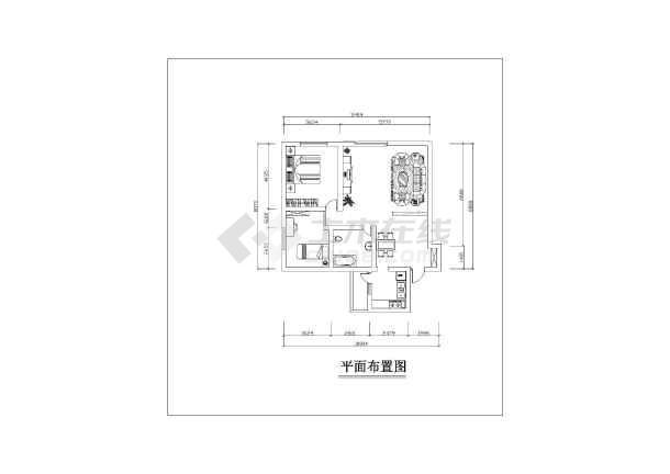 小两居五块石10幢2楼2号室内家装设计cad施工图-图2