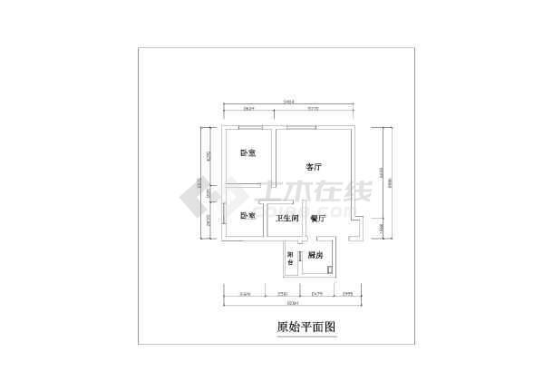 小两居五块石10幢2楼2号室内家装设计cad施工图-图3