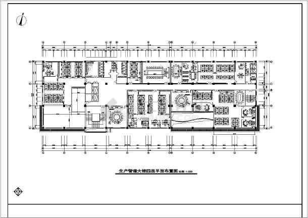 某地办公楼平面图cad设计图(共5张)