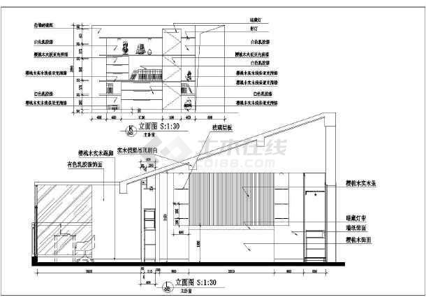 小户型周大姐家居室内装修设计cad平面施工图纸-图1