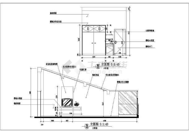 小户型周大姐家居室内装修设计cad平面施工图纸-图2