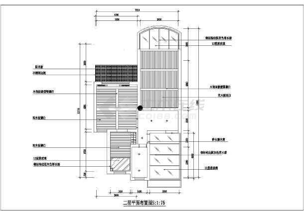小户型周大姐家居室内装修设计cad平面施工图纸-图3