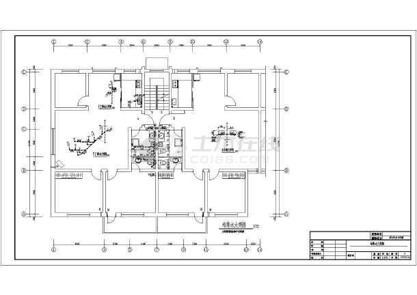 运城市某沙龙365建筑设计CAD施工图-图1