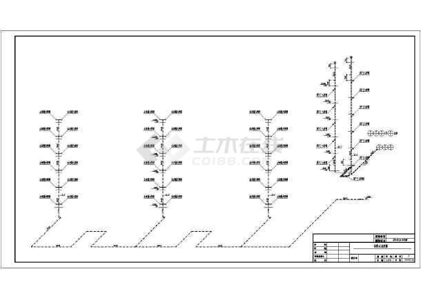 运城市某沙龙365建筑设计CAD施工图-图3