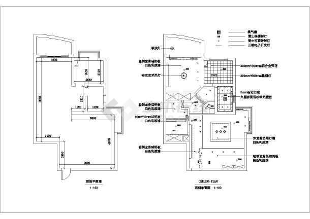 住宅造字装修设计cad施工图别墅吊顶设计图cad天花图片