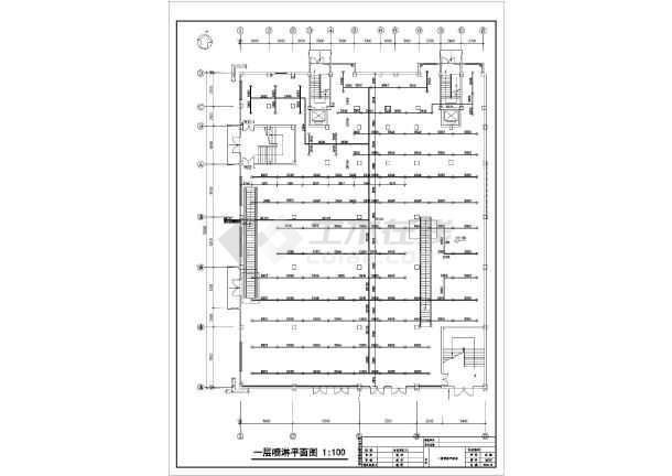 某超市建筑消防系统设计施工cad图图片