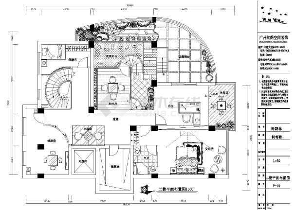 某高档复式楼装修cad施工设计图
